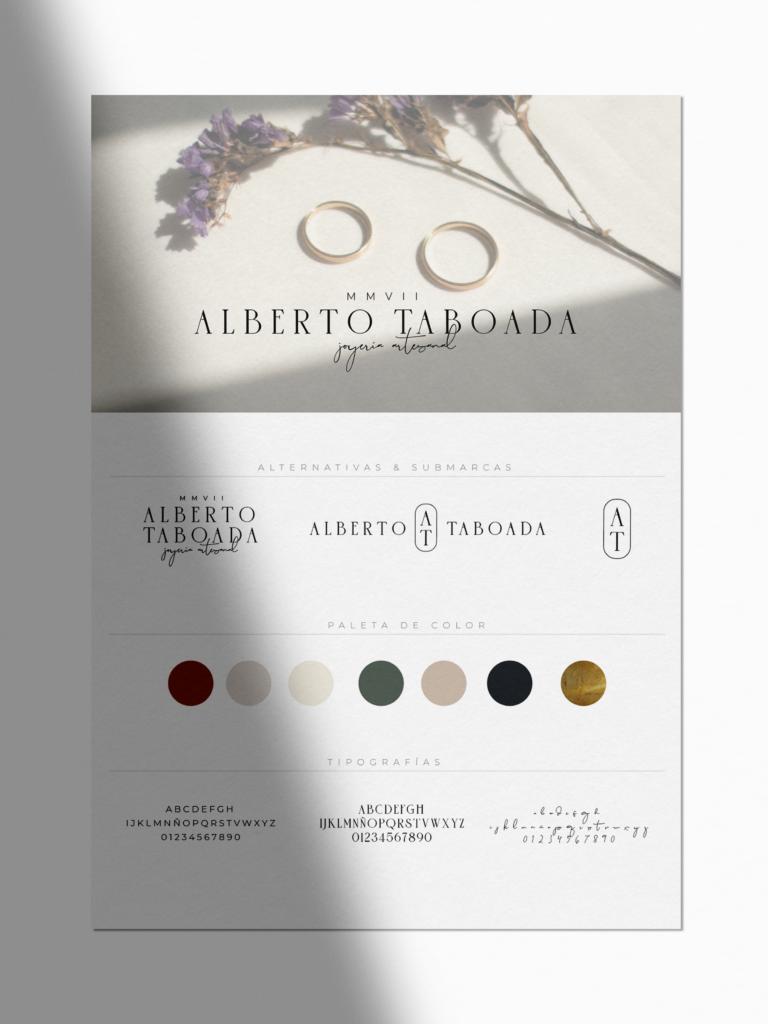 Manuel de Identida Corporativa Alberto Taboada